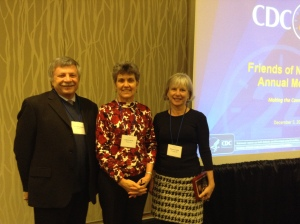 Dr. Boyle with outgoing EC members, Roberta Carlin, Chair, and Joseph Canose, Vice Chair