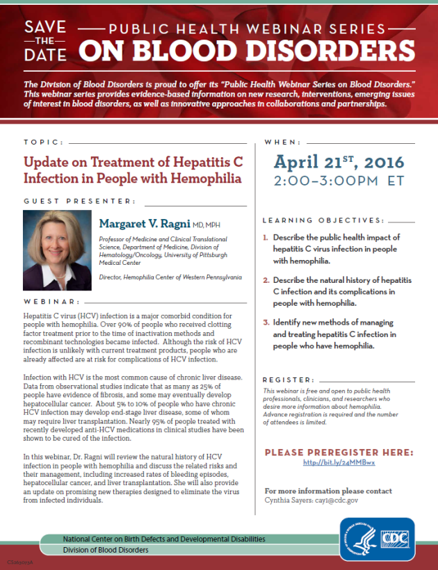 Updated on Treatment of Hepatitis C Infection in People with Hemophilia